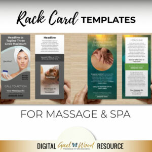 Rack Card Templates for Massage or Skincare