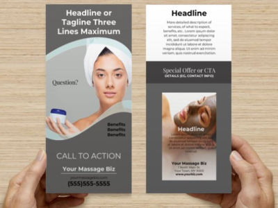 Rack Card Templates for Spa