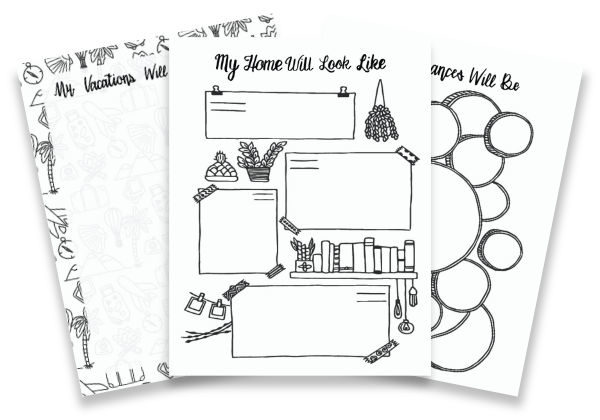 In Five Years Planner preview pages