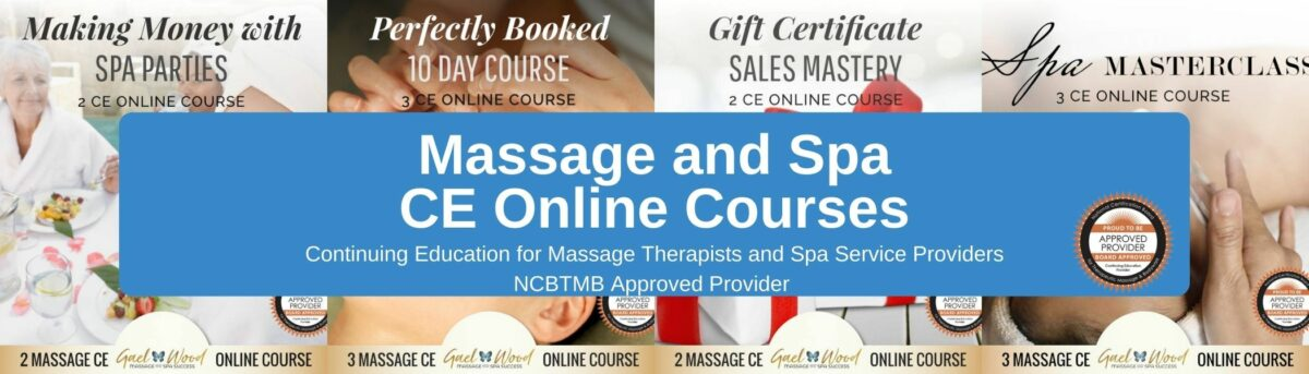 Massage and Spa CE Courses Banner