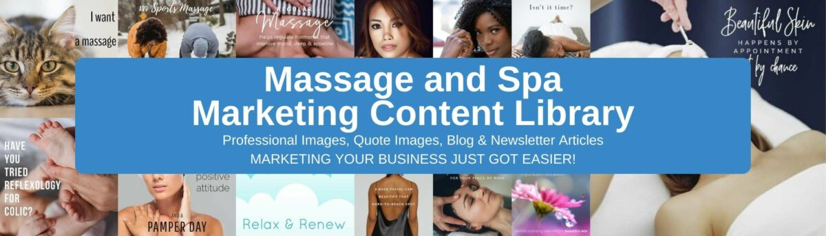 Massage and Spa Content Library Banner